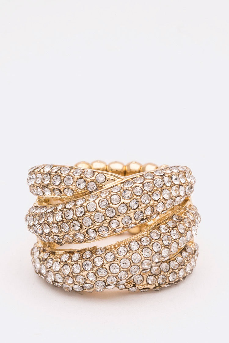 Crystal Iconic Cocktail Stretch Ring