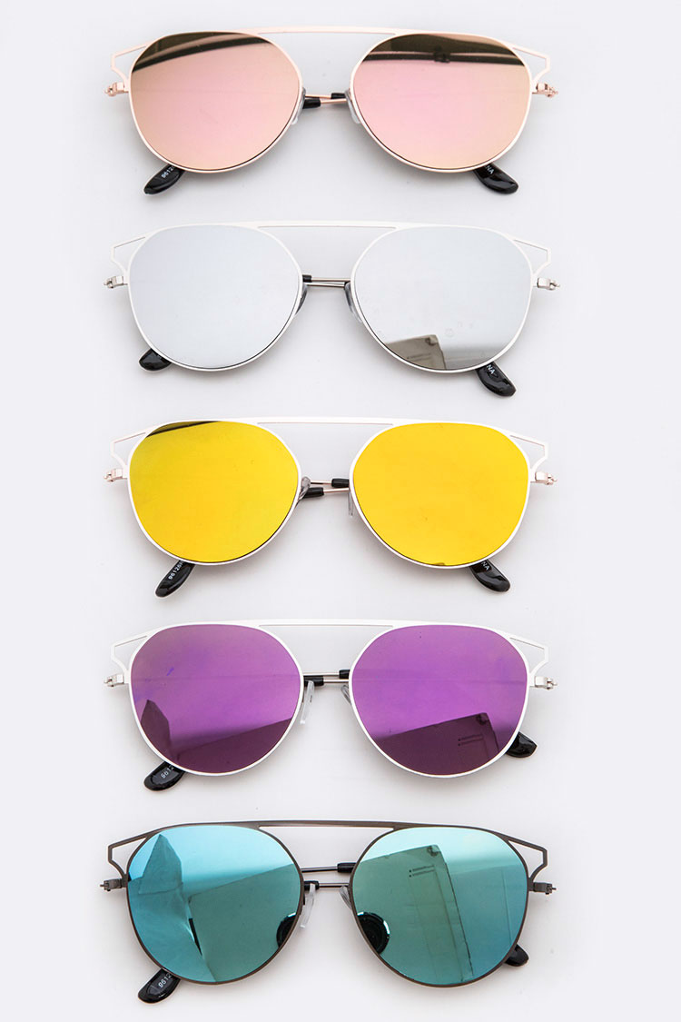 Top-Bar Oval Sunglasses