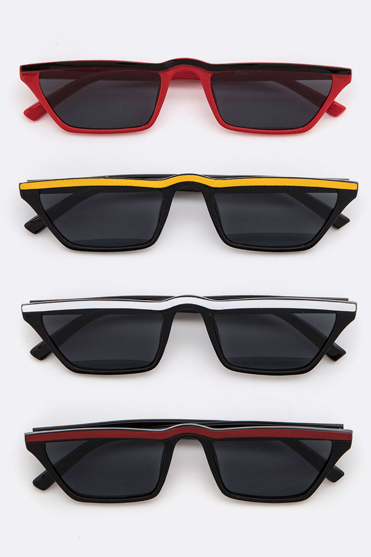 Color Lined Iconic Sunglasses