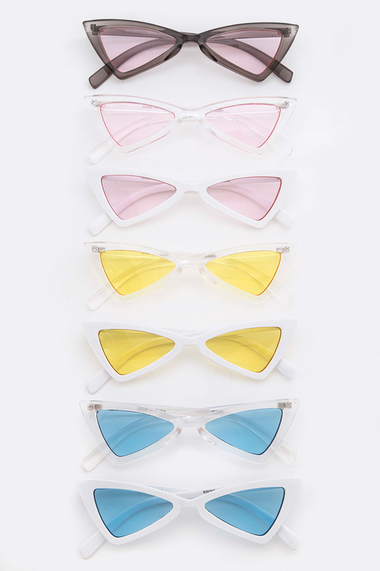 Color Lens Iconic Triangle Sunglasses