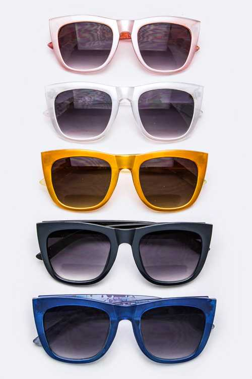 Splatter Paint Temple Fashion Sunglasses
