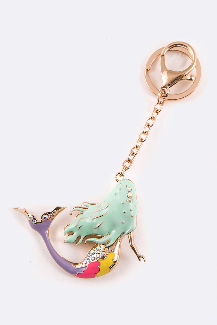 Enamel Mermaid Iconic Key Chain