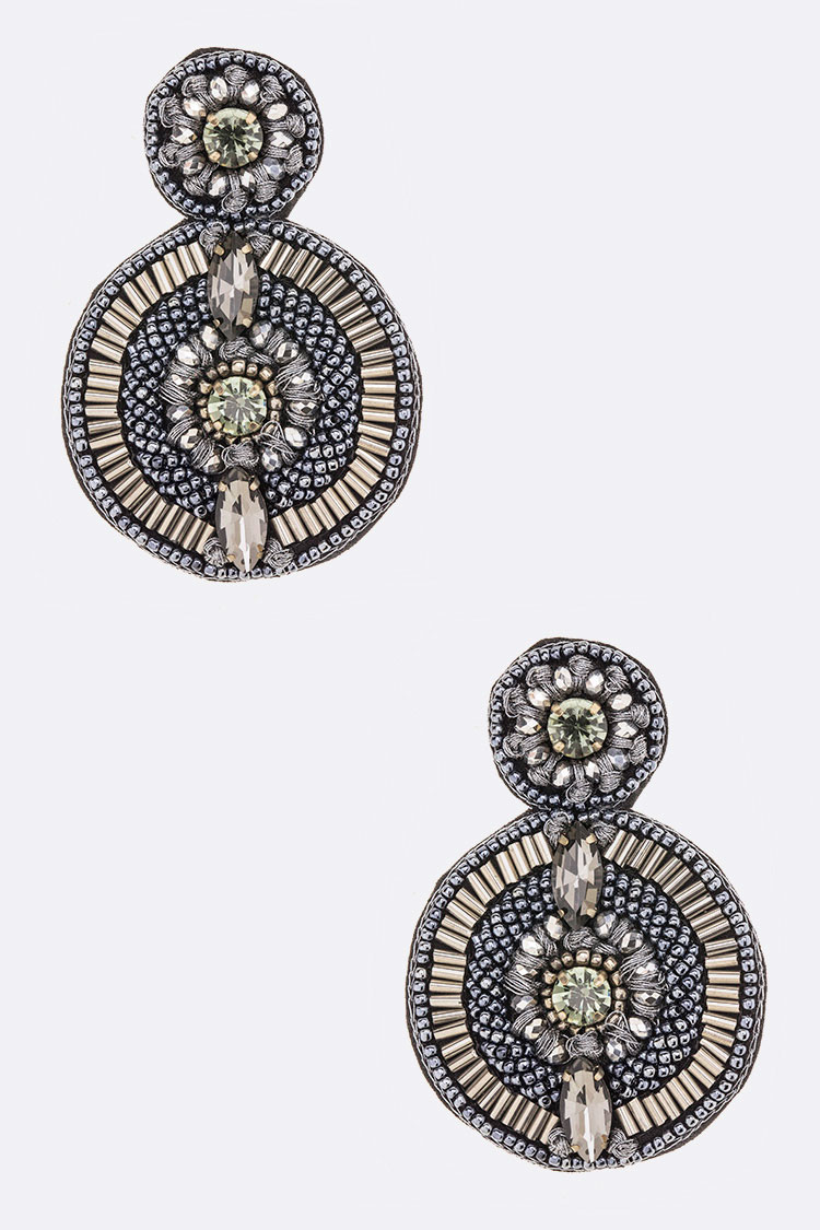 Iconic Beaded Crystal Earrings