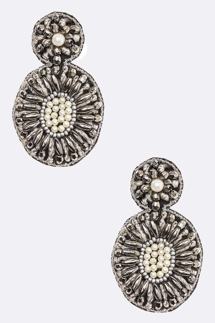 Crystal Iconic Beaded Earrings