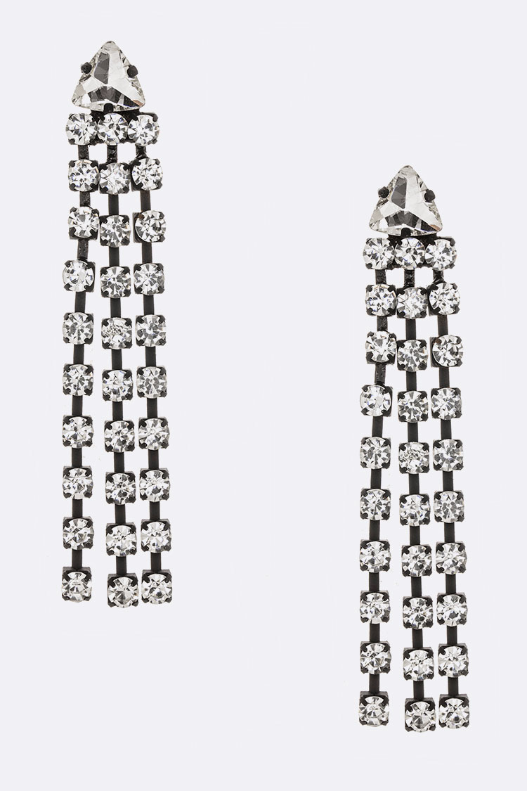 Rhinestone Tassel Iconic Earrings