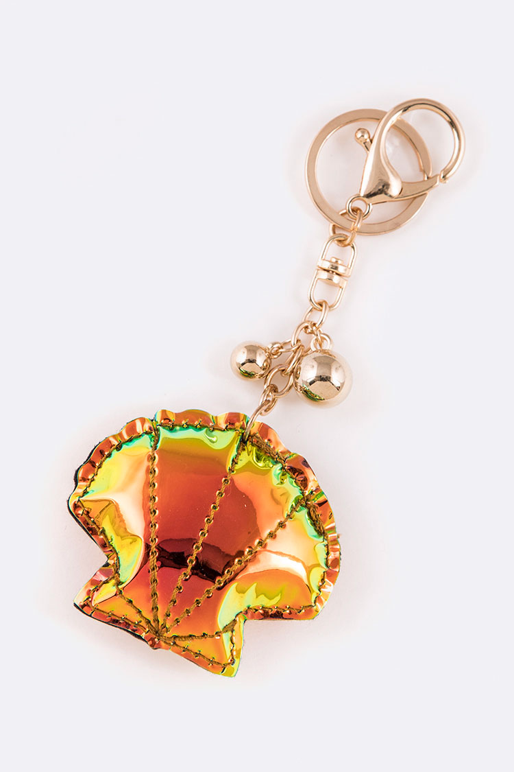 Holographic Puff Shell Iconic Key Chain