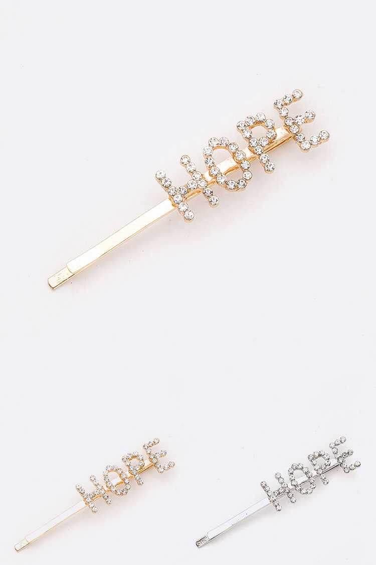 HOPE Rhinestone Hair Clip Set