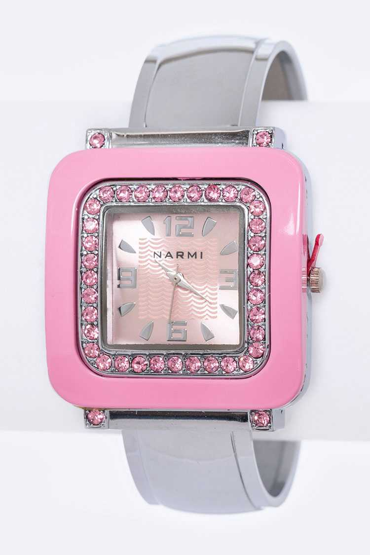 Crystal Fashion Bangle Watch