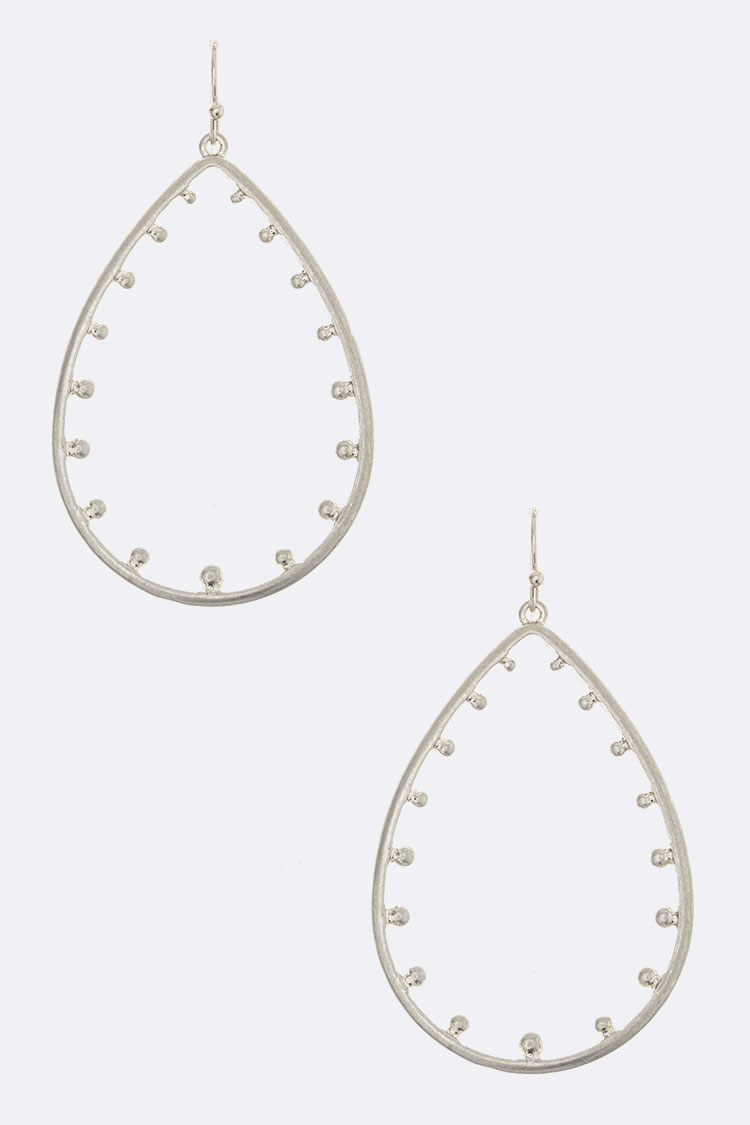 Dotted Teardrop Cutout Earrings