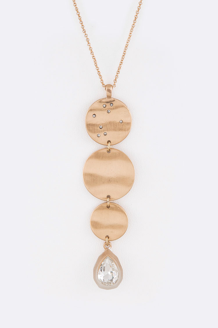 Crystal Drop Pendant Necklace