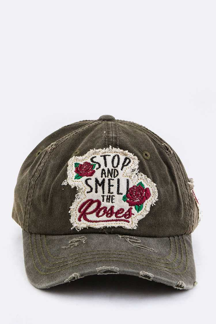 Stop & Smell The Rose Cotton Cap
