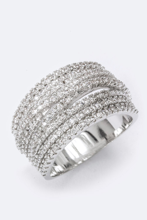 Layer CZ Ring