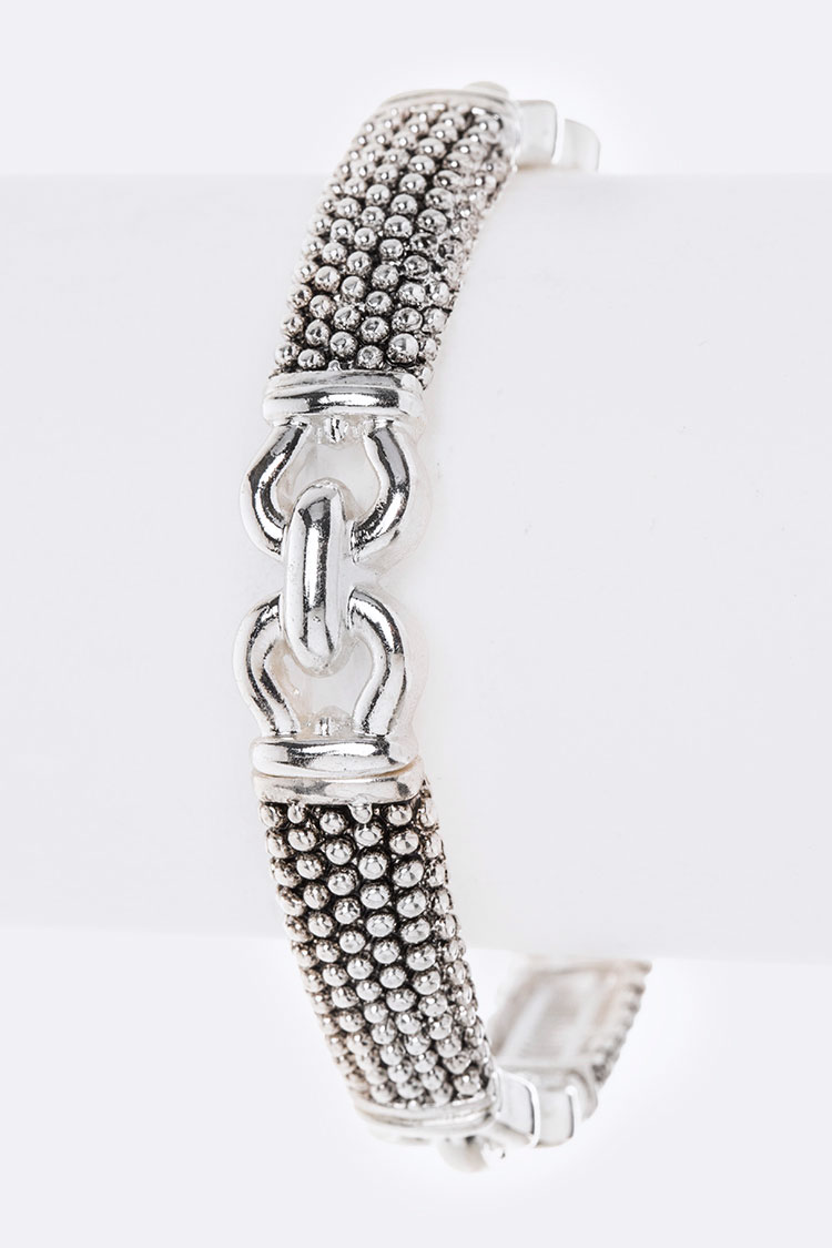 Textured Iconic Stretch Bracelet