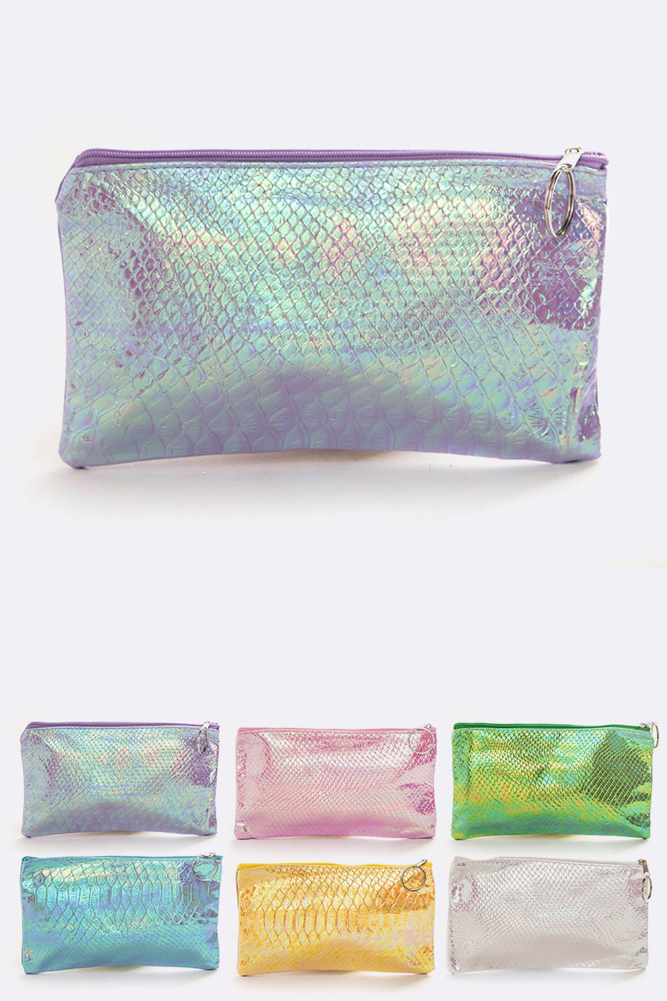 Metallic Makeup Pouch Set
