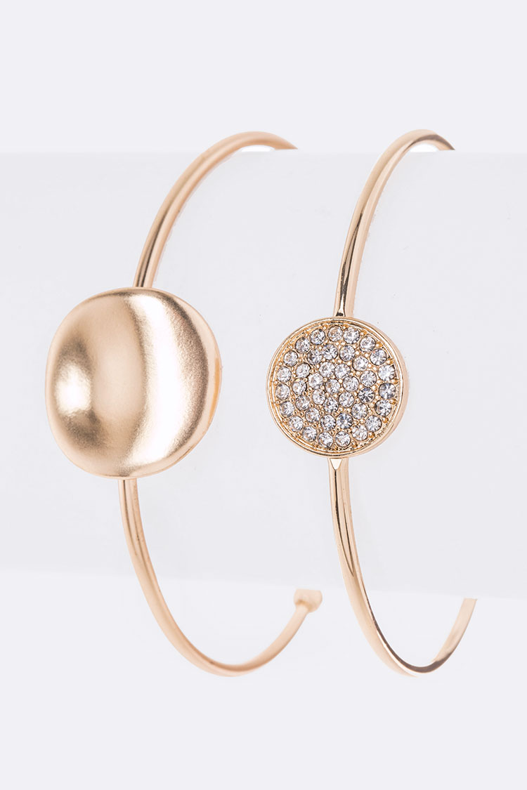 Crystal Double Bangle Set