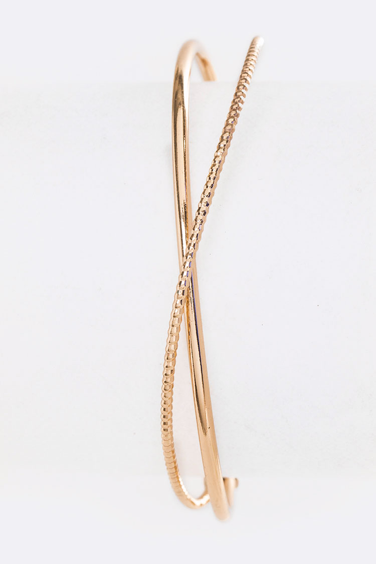 Crystal Pave Dainty Wired Cuff