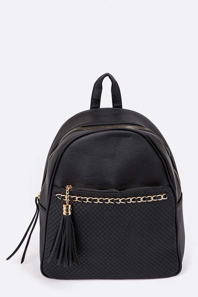 Embossed Pattern Back Pack