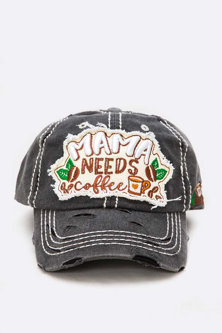 Mama Need A Coffee Iconic Cotton Cap