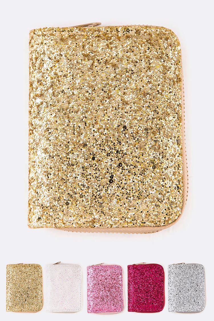 Glitter Small Zip Wallet Set