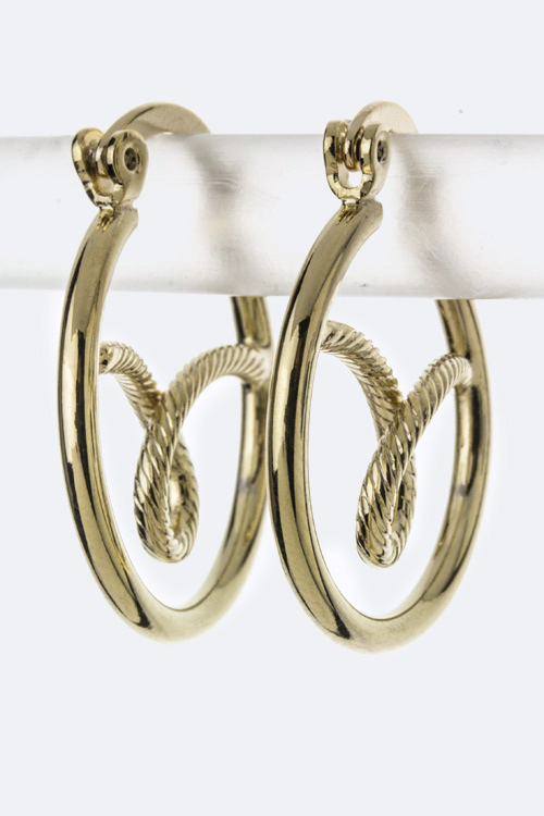 Twisted Design Fashion Hoops