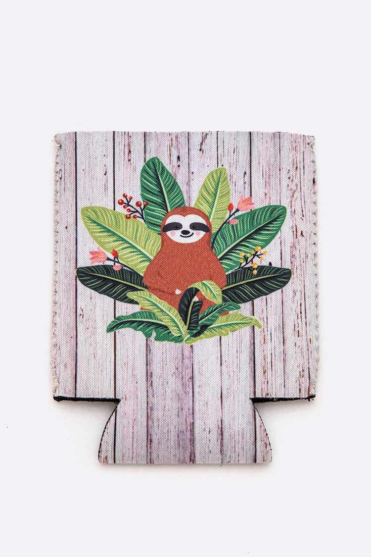 Sloth Printed Iconic Drink Sleeve