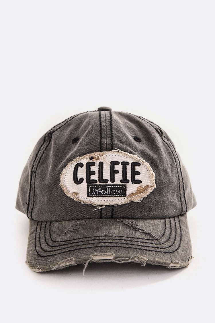 CELFIE Embroidery Cotton Cap