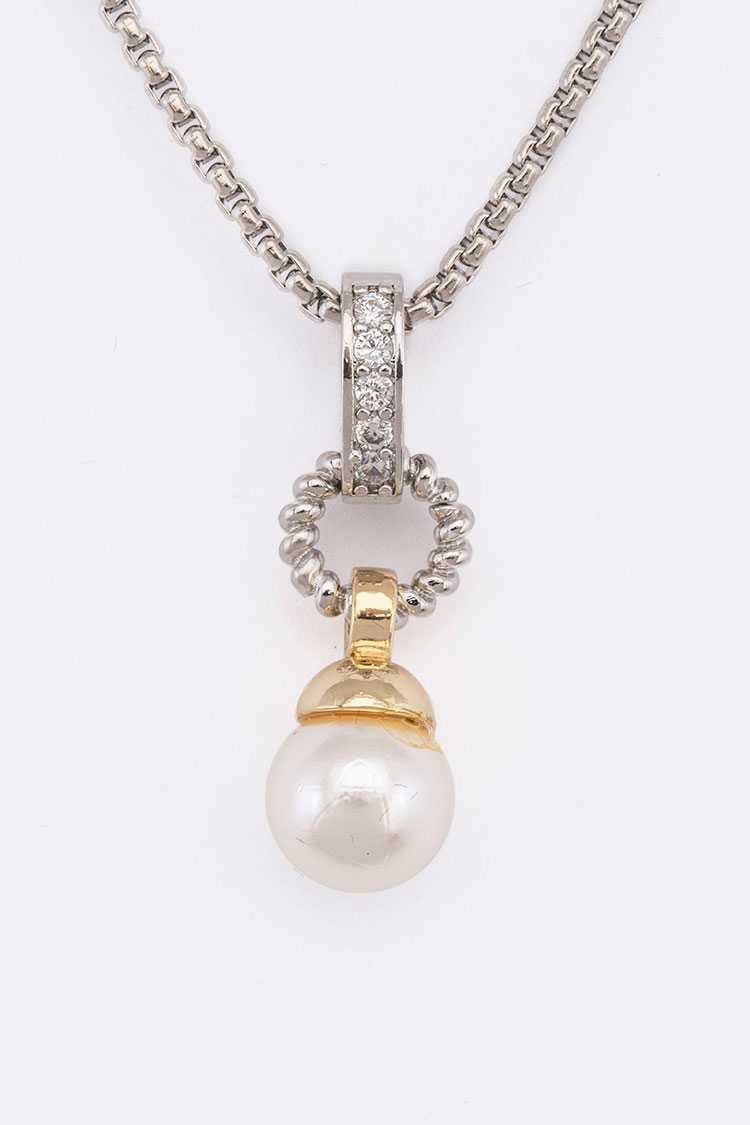 Pearl Drop Pendant Design Necklace