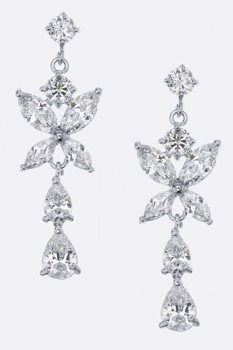 CZ Mix Drop Earrings