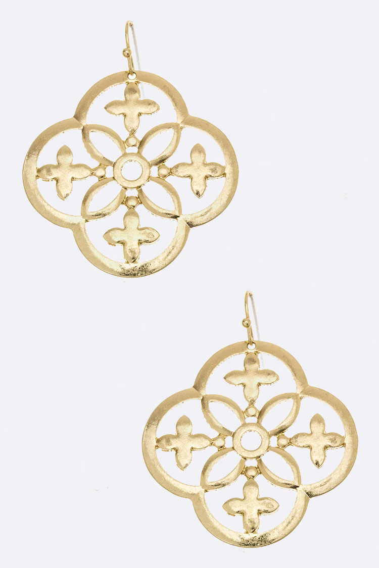 Laser Cut Flower Earrings