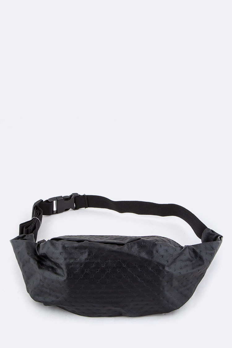 Embossed Pattern Waist Bag