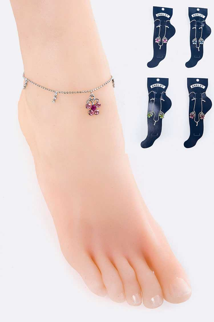 Crystal Butterfly Anklet