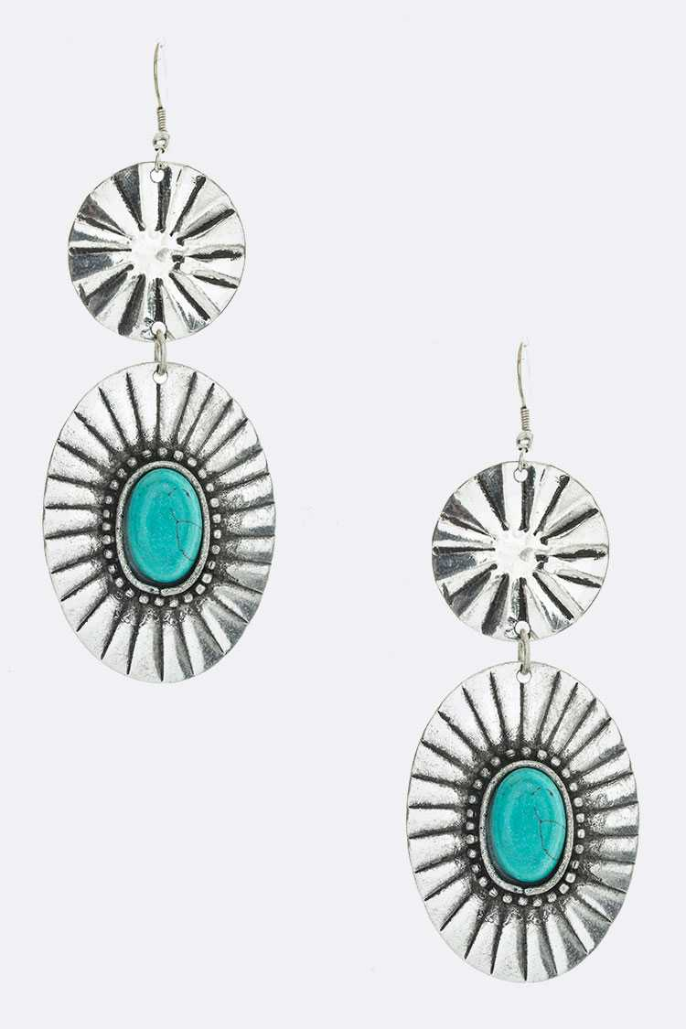 Turquoise Western Earrings