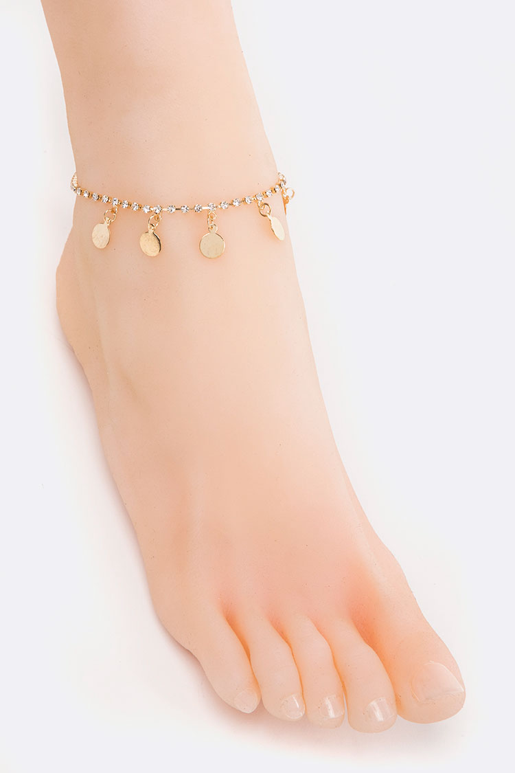 Fringe Disks Anklet Set