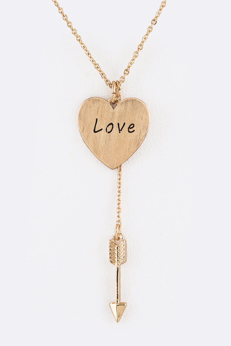 Love & Arrow Pendant Necklace