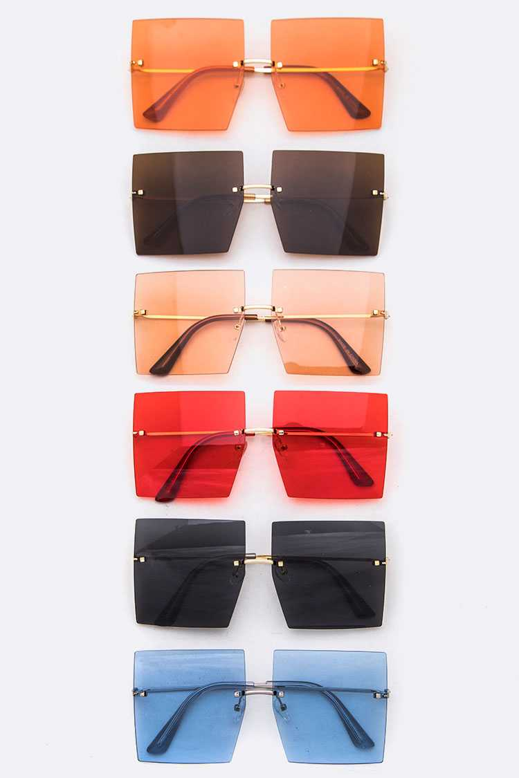 Iconic Color Square Lens Sunglasses Set