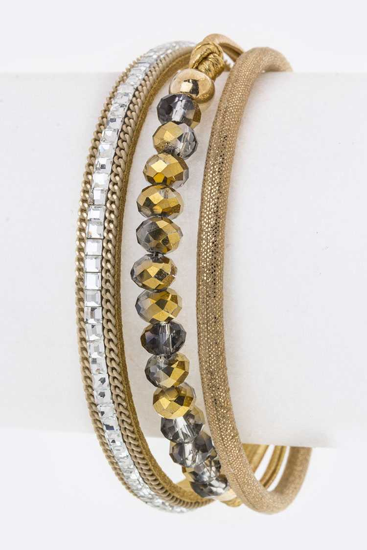 Crystal & Bead Layer Cuff
