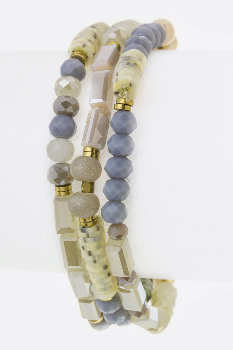 Mix Beads Layer Stretch Bracelet