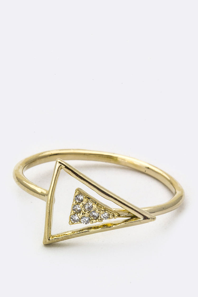Micro Pave CZ Arrow ring
