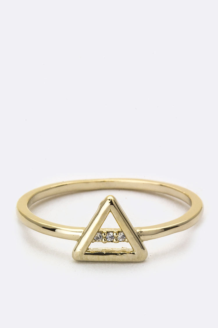CZ & Triangle Ring
