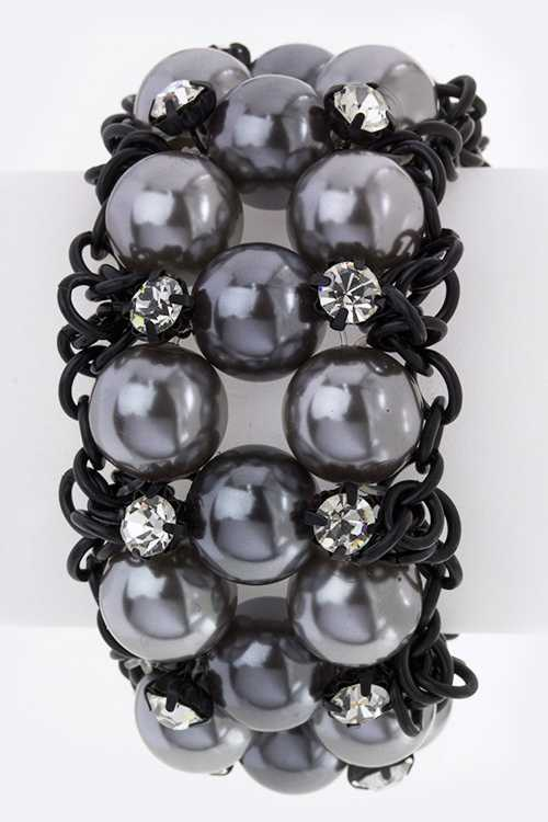 Pearl Links Stretch Bracelet