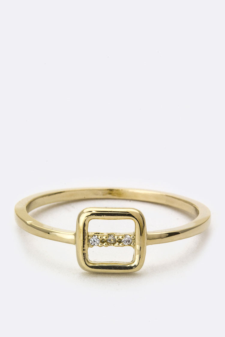 CZ & Square Ring