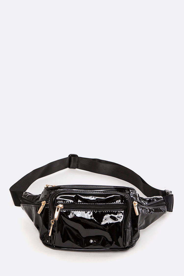 Vinyl Fashion Fanny Bag