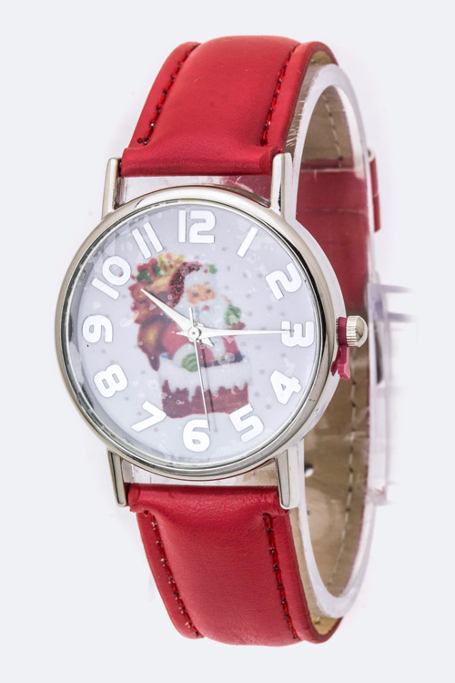 Santa Claus Crystal Watch
