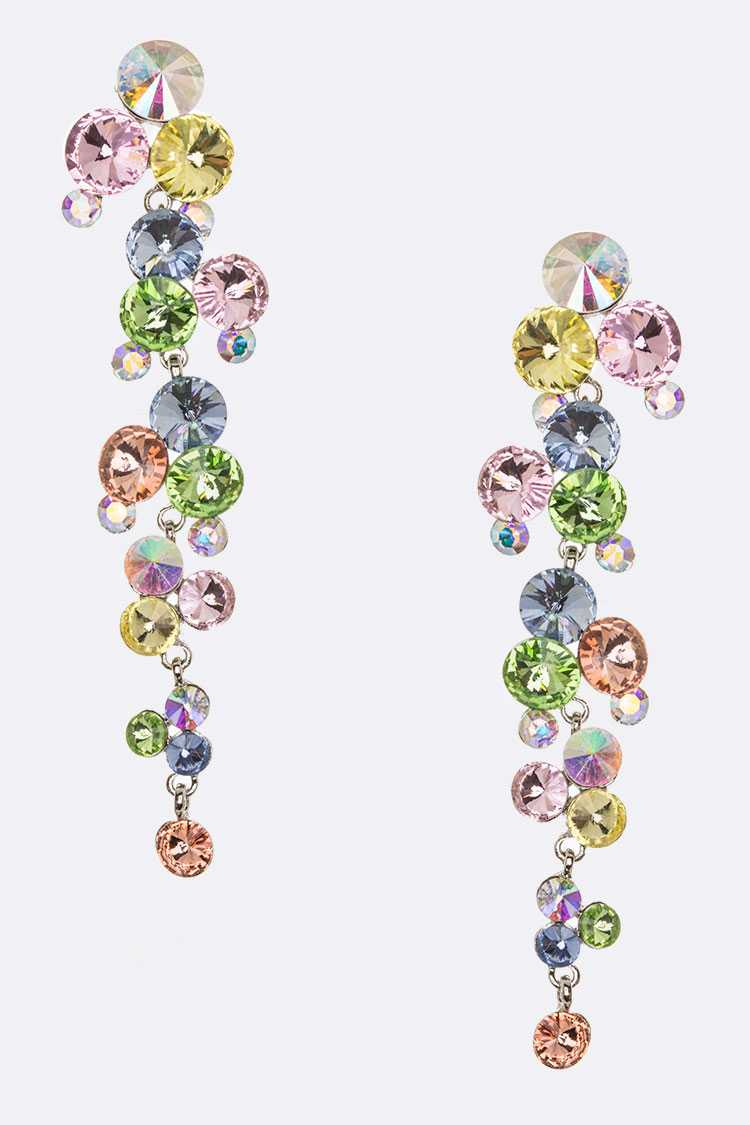 Crystal Bubble Earrings