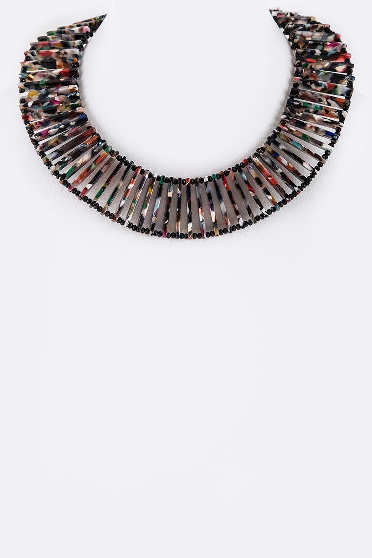 Celluloid Iconic Bar Collar Necklace