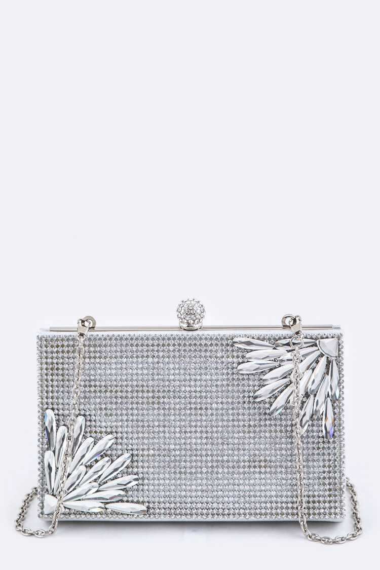 Crystals Iconic Box Clutch