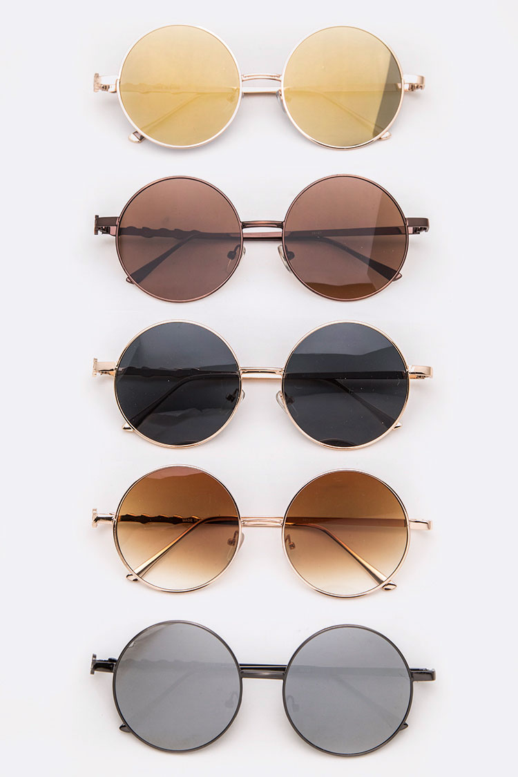 Classic Tint Iconic Round Sunglasses Set