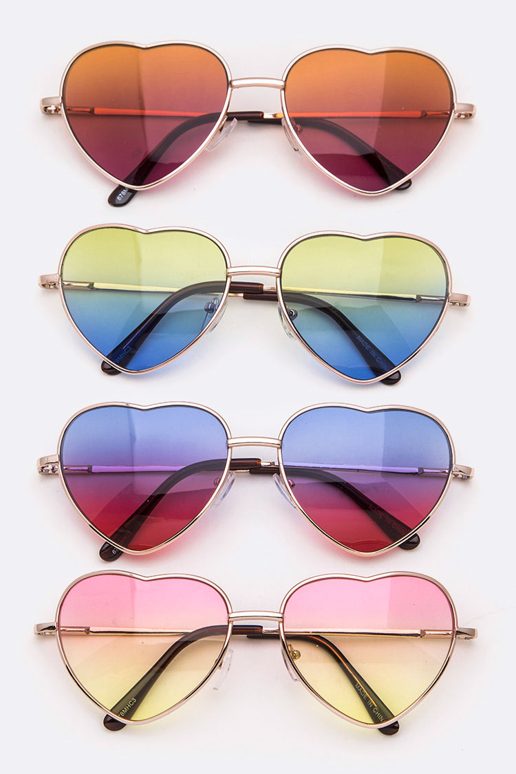 Heart Shape Ocean Lens Iconic Sunglasses