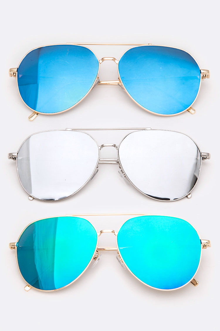 Aviator Iconic Sunglasses Set