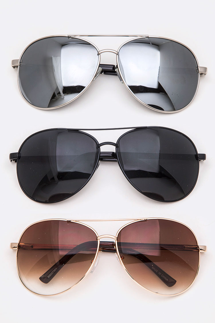 Mix Tone Aviator Sunglasses